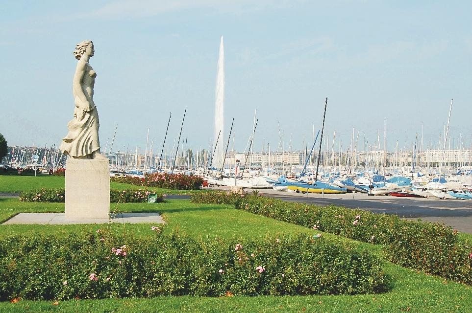 Genf_Statue_am_Genfer_See
