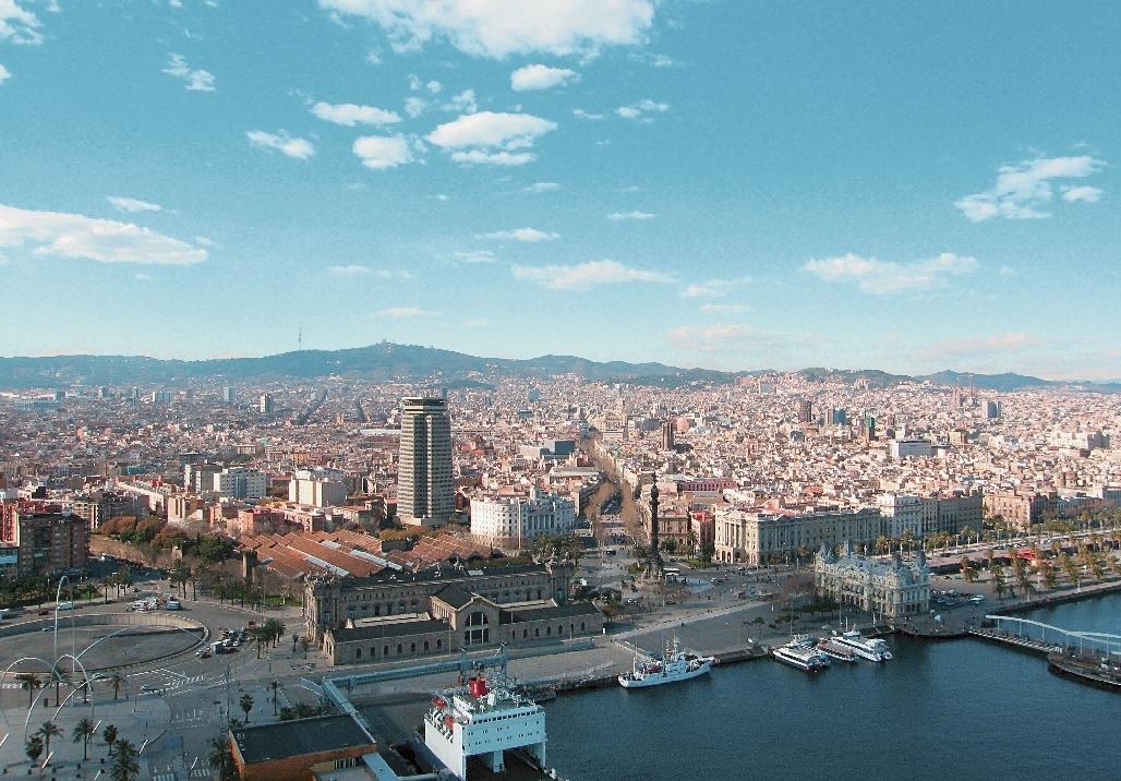 Barcelona_Stadt_von_oben