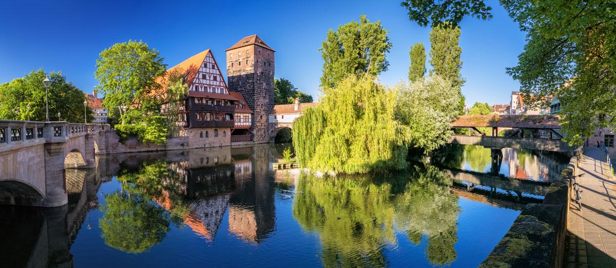 Nürnberg Stadt Brücke