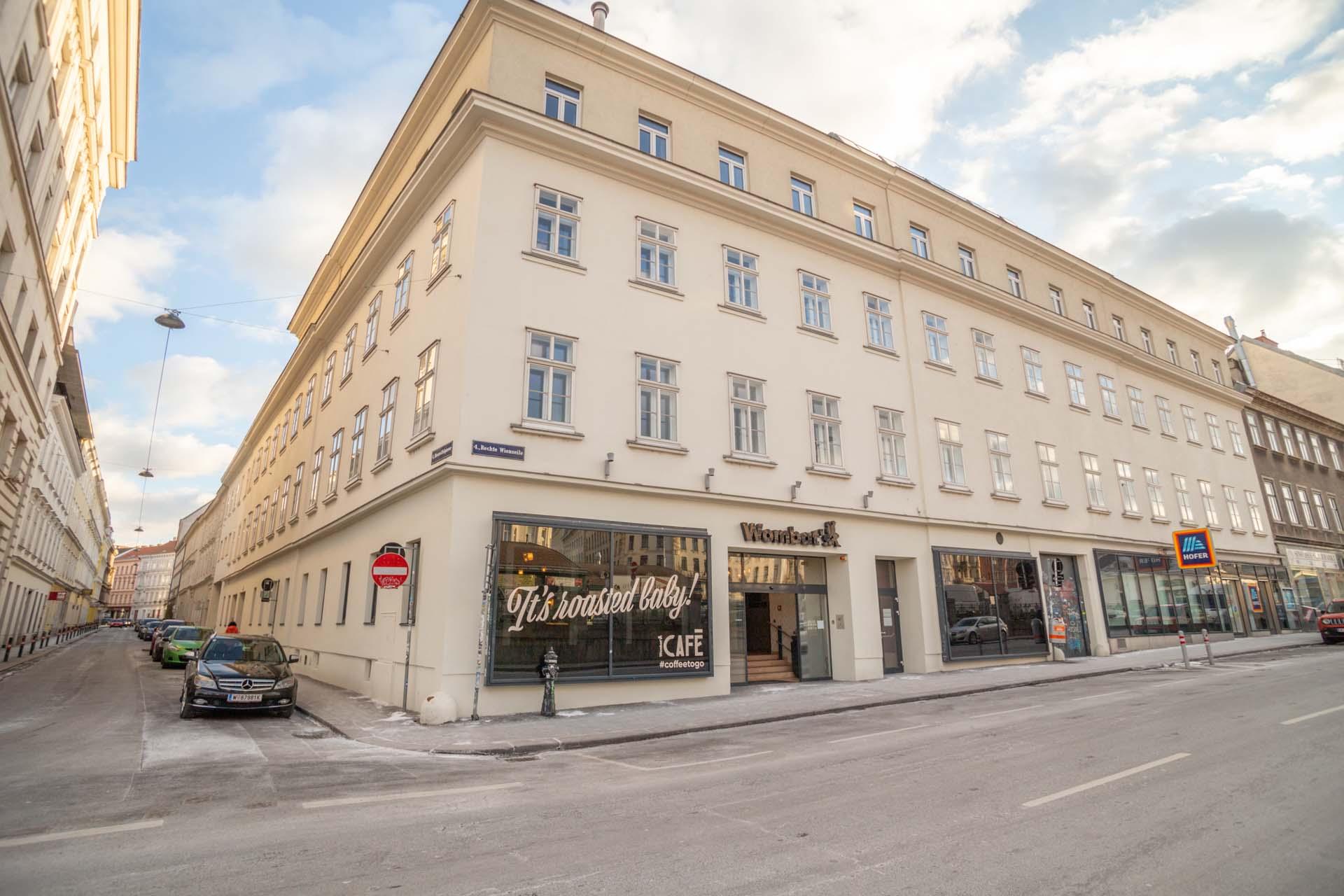 Wombats Wien Naschmarkt Hostel Gebäude
